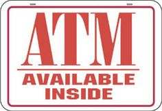 MACCD-5-ATMS Price:$13.69 ($1.37 per piece X 10 pieces) 3″ X 5″ SINGLE SIDED ATM DECAL