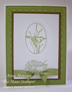 Maui Stamper Handmade card Simply Sketched Sympathy