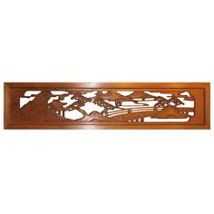 RANMA JAPANESE TRANSOM | Mountains and Bridge Ranma at 1stdibs