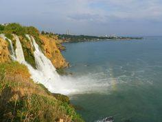 Lower Düden Waterfall in Antalya, Turkey. #antalya