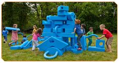 Imagination Playground - Playgrounds for Schools, Museums & Parks - big blue blocks sets