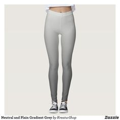 Neutral and Plain Gradient Grey Leggings Workout Leggings, Women's Leggings, Pattern Leggings, Leggings Fashion, Print Leggings, Tartan Leggings, Pants Pattern, Plaid Pattern, Dark Grey Leggings