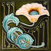 Art Nouveau Tile - This would be beautiful in our other house.