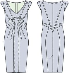 Russian site with tons of illustrations on how to alter a standard dress sloper to create many, many styles of dresses