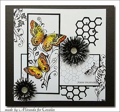 'Mir'acle Art Inspirations: 3 Crealies creations in combination with Chocolate Baroque. Love Cards, Diy Cards, Butterfly Cards, Butterfly Colors, Mixed Media Cards, Baroque Design, Animal Cards, Card Making Inspiration, Art Tutorials