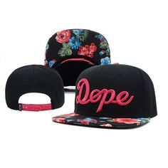 DOPE Flower style snapback black colored with pink dope logo  #flower #dope #snapback #snapbacks #cap #caps #hat #hats http://capheaven.net/shop/dope/dope-flower-style-black-n-pink-italic-logo/