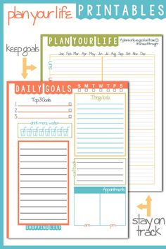 Here is a great Daily Goals Plan Your Life Printable that would go great with my To Do List Printable to help organize your life and time. The Daily Goals