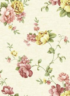 Red and Yellow Alessa Floral Wallpaper, SBK21635