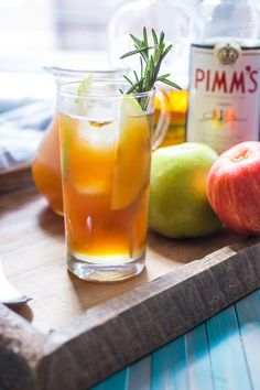 Autumn Pimm's Cup Recipe | Perfect for a chilly evening under the stars. This is a taste of autumn. Filled with apple cider, rye whiskey and ginger, this is your new cool weather drink. @foodfanatical