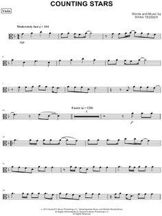"OneRepublic ""Counting Stars - Viola"" Sheet Music - Download & Print"