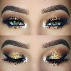 Gold glitter eyeshadow (scheduled via http://www.tailwindapp.com?utm_source=pinterest&utm_medium=twpin&utm_content=post176461599&utm_campaign=scheduler_attribution)