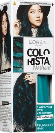 Für einen einzigartige Look und fließende Übergänge: Die L'Oréal Colorista Wash out 10 Turquoise sorgt für einen ausgefallenen Look und zeichnet sich durch...