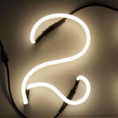Seletti Neon Font Shaped Wall Light - 2 ($31) ❤ liked on Polyvore featuring home, lighting, numbers, colored lamps, colored glass lamps, tube lamp, calligraphy kit and neon lamps