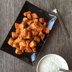 LanisLeckerEcke: Süßkartoffeln mit Knoblauchdip