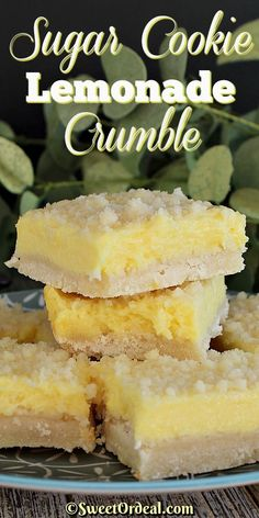Sugar cookie meets lemonade and it's love at first bite. Before you know it, Sugar Cookie Lemonade Crumble is born and taste buds are happy. Lemon Recipes, Sweet Recipes, Baking Recipes, Lemon Dessert Recipes, Lemon Bites Recipe, Desserts With Lemon, Lemon Cookie Recipe, Bar Cookie Recipes, Lemon Curd Recipe