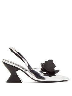 5012cca27d9b6 Point-toe metallic leather slingback pumps   Marques Almeida    MATCHESFASHION.COM Slingback
