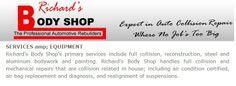 Richards Body Shop - Services The Body Shop, Shopping