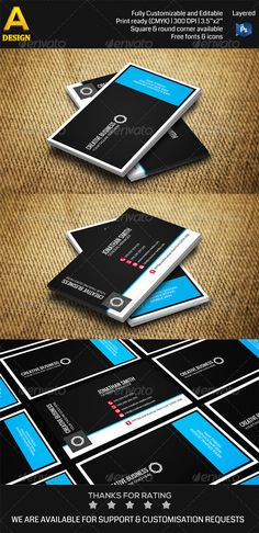 Corporate Business Card PSD Print Templates| Print Ready | Buy and Download: http://graphicriver.net/item/corporate-business-card-an0349/7322126?WT.ac=category_thumbWT.z_author=annozioref=ksioks