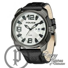 Police Men's Black Leather Texas Watch - 13836JSU-04  Online price: £129.00  www.lingraywatches.co.uk