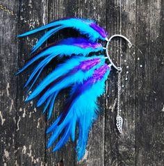Feather Ear Cartilage Piercing Cuff Night Breeze Earrings