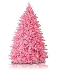 The soft pink branches of the Pretty In Pink Tree have a matte finish that makes the tree glow.