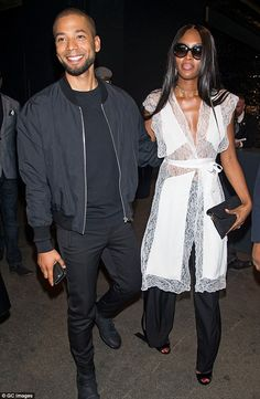 Naomi Campbell displays model figure at edgy NYFW show with Empire's Jussie Smollett   Daily Mail Online