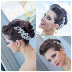 Wedding hair bride bridal upstlye updo faux hawk elegant