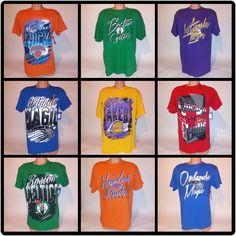 75cb11297245 NBA Mens T-Shirt Basketball Short Sleeve Celtics Lakers Magic Knicks Bulls