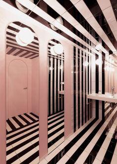 Naive Champagne Bar interior by AKZ Architecture in Kiev, Ukraine