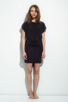 Black Silk Wrap-It Knot Dress