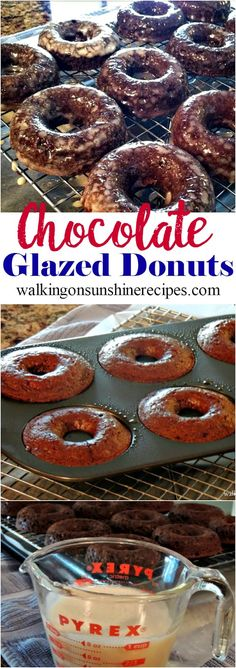 Chocolate Glazed Donuts from Walking on Sunshine Recipes
