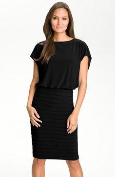 Adrianna Papell Blouson Shutter Pleat Jersey Dress available at #Nordstrom Navy Dress, Blue Dresses, Peplum Dress, Dress Skirt, Dresses For Work, Mob Dresses, Girls Dresses, Adrianna Papell, Nordstrom Dresses