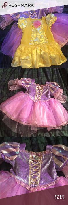 Disney Princess Dresses Lot of two Disney Princess Dresses. Rapunzel and Belle.  Both only worn once.  Excellent condition. Disney Dresses