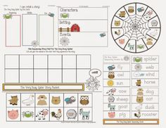The Very Busy Spider Story Packet #ClassroomFreebies