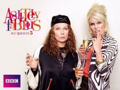 "LOVE this show! Jennifer Saunders & Joanna Lumley in ""Absolutely Fabulous"".Patsy & Edina Plus Ab Fab Movie, Movie Tv, Patsy And Edina, Jennifer Saunders, Ted, Joanna Lumley, Absolutely Fabulous, Celebs, Carnival"