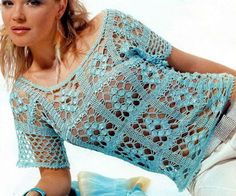 """So Easy So Elegant Link to the Pattern Source: A gorgeous Russian Crochet Magazines Series """"FASHION MAGAZINE"""""""