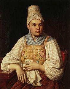 Неизвестный - Портрет жены купца, Анны Петровны Филатовой