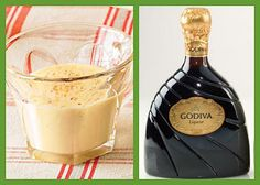 Egg Nog and Godiva Chocolate Liqueur - the perfect New Year's Eve, Eve drink.