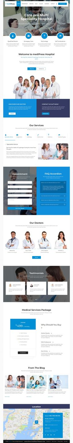 MediPress is clean and modern design 3in1 responsive WordPress theme for medical, hospital doctor and #health care centers professional website to live preview & download click on Visit #wordpresstheme #clinical