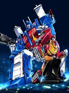 Ultra Magnus and Rodimus Prime Transformers Generation 1, Transformers Masterpiece, Transformers Optimus Prime, Ultra Magnus, Hasbro Studios, Pokemon, Graphic Novel Art, Super Robot, Classic Cartoons