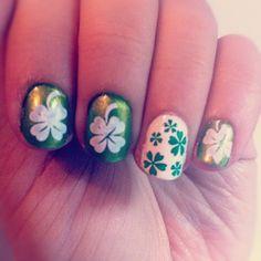 st patrick's day nail
