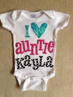 I love my Auntie baby bodysuit on Etsy, $28.00