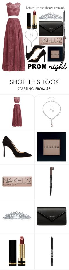 """Prom night 👑"" by catarinahoran21 ❤ liked on Polyvore featuring Say Yes to the Prom, Jimmy Choo, Bobbi Brown Cosmetics, Urban Decay, NYX, Bling Jewelry, Balenciaga, Gucci, Buxom and PROMNIGHT"