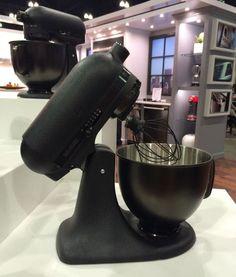 matte black KitchenAid mixer