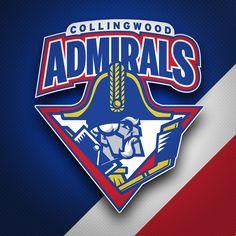 Collingwood Admirals logo design and branding on Behance