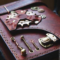 Купить Сумка Стимпанк - Механик - коричневый, сумка, мужская, подарок, качество, натуральная кожа