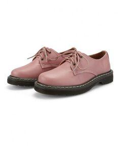 Retro Lace Up Flat Shoes