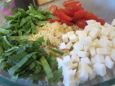 Caprese Quinoa Salad. This sounds easy enough to make.