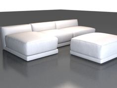 Modern fabric sectional sofa 3d model