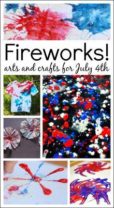 14 firework art ideas for July 4th!